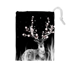 Deer Drawstring Pouches (large)  by ZephyyrDesigns