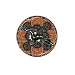 Illustration Based On Aboriginal Style Of Dot Painting Depicting Crocodile Hat Clip Ball Marker (4 Pack) by goodart