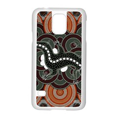 Illustration Based On Aboriginal Style Of Dot Painting Depicting Crocodile Samsung Galaxy S5 Case (white) by goodart