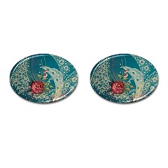 Rich Pattern Flower Cufflinks (oval) by goodart