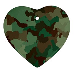 Camouflage Pattern Ornament (heart) by goodart
