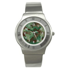 Camouflage Pattern Stainless Steel Watch by goodart