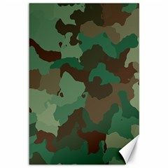 Camouflage Pattern Canvas 12  X 18   by goodart