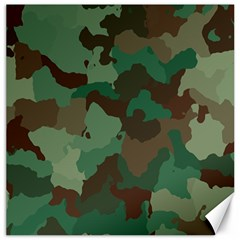 Camouflage Pattern Canvas 20  X 20   by goodart