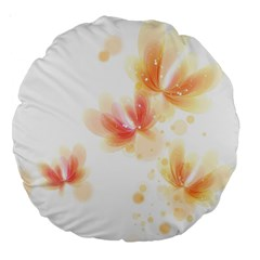 Flower Color Pink Large 18  Premium Round Cushions by goodart
