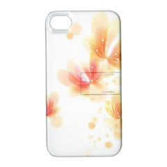 Flower Color Pink Apple Iphone 4/4s Hardshell Case With Stand by goodart