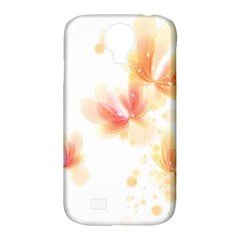 Flower Color Pink Samsung Galaxy S4 Classic Hardshell Case (pc+silicone)