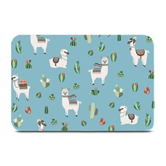 Lama And Cactus Pattern Plate Mats by Valentinaart