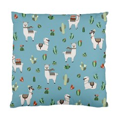 Lama And Cactus Pattern Standard Cushion Case (two Sides) by Valentinaart