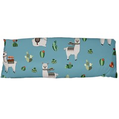 Lama And Cactus Pattern Body Pillow Case Dakimakura (two Sides)
