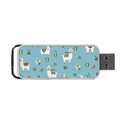 Lama And Cactus Pattern Portable Usb Flash (one Side) by Valentinaart