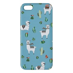 Lama And Cactus Pattern Iphone 5s/ Se Premium Hardshell Case