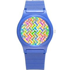 Cool Abstract Pattern Colorful Round Plastic Sport Watch (s) by goodart