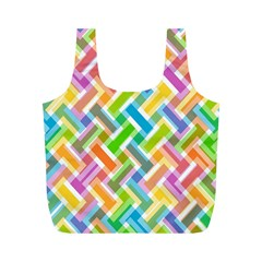 Cool Abstract Pattern Colorful Full Print Recycle Bags (m)  by goodart