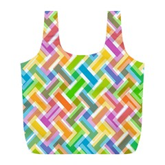 Cool Abstract Pattern Colorful Full Print Recycle Bags (l)  by goodart