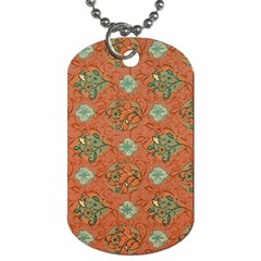 Fabric Texture Flower Dog Tag (one Side) by goodart