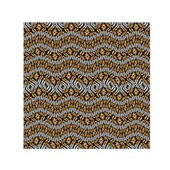 Modern Wavy Geometric Pattern Small Satin Scarf (square) by dflcprints