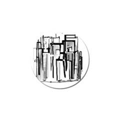 Black And White City Golf Ball Marker (10 Pack) by digitaldivadesigns