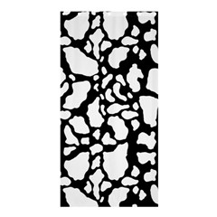 Black White Cow Print Shower Curtain 36  X 72  (stall)  by LoolyElzayat