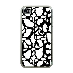 Black White Cow Print Apple Iphone 4 Case (clear)