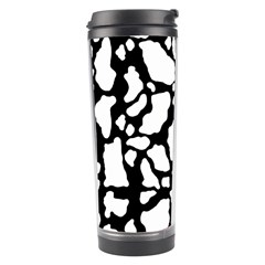 Black White Cow Print Travel Tumbler