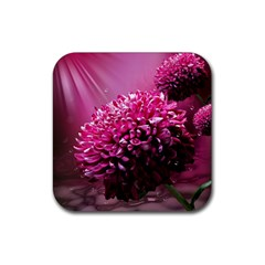 Majestic Flowers Rubber Square Coaster (4 Pack)  by LoolyElzayat
