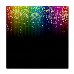 Colorful Space Rainbow Stars Tile Coasters
