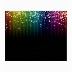 Colorful Space Rainbow Stars Small Glasses Cloth