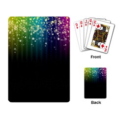 Colorful Space Rainbow Stars Playing Card