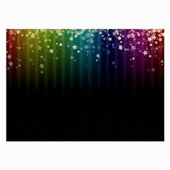 Colorful Space Rainbow Stars Large Glasses Cloth