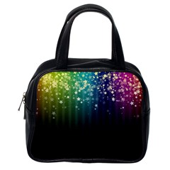 Colorful Space Rainbow Stars Classic Handbags (one Side)