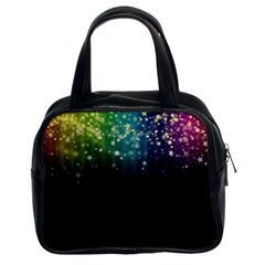 Colorful Space Rainbow Stars Classic Handbags (2 Sides)