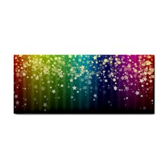 Colorful Space Rainbow Stars Hand Towel