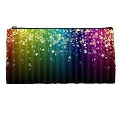 Colorful Space Rainbow Stars Pencil Cases by LoolyElzayat