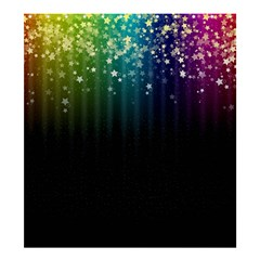 Colorful Space Rainbow Stars Shower Curtain 66  X 72  (large)