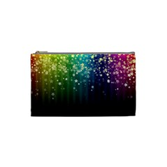 Colorful Space Rainbow Stars Cosmetic Bag (small)