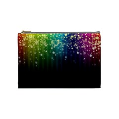Colorful Space Rainbow Stars Cosmetic Bag (medium)