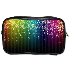 Colorful Space Rainbow Stars Toiletries Bags