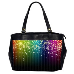 Colorful Space Rainbow Stars Office Handbags (2 Sides)