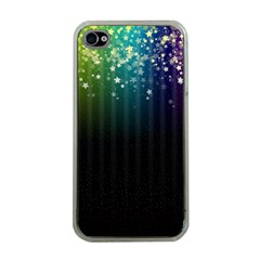 Colorful Space Rainbow Stars Apple Iphone 4 Case (clear)