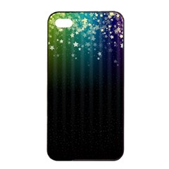 Colorful Space Rainbow Stars Apple Iphone 4/4s Seamless Case (black)