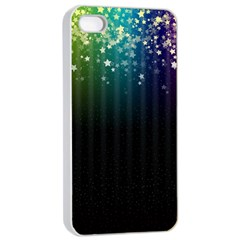 Colorful Space Rainbow Stars Apple Iphone 4/4s Seamless Case (white) by LoolyElzayat