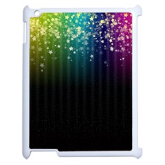 Colorful Space Rainbow Stars Apple Ipad 2 Case (white)