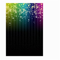 Colorful Space Rainbow Stars Large Garden Flag (two Sides)