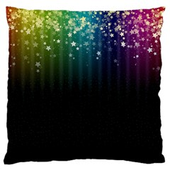 Colorful Space Rainbow Stars Large Cushion Case (one Side)