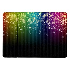 Colorful Space Rainbow Stars Samsung Galaxy Tab 10 1  P7500 Flip Case