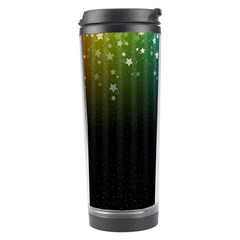 Colorful Space Rainbow Stars Travel Tumbler