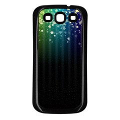 Colorful Space Rainbow Stars Samsung Galaxy S3 Back Case (black)