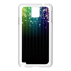 Colorful Space Rainbow Stars Samsung Galaxy Note 3 N9005 Case (white)