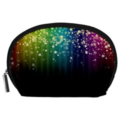 Colorful Space Rainbow Stars Accessory Pouches (large)